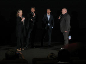Meryl Streep, Colin Firth and Dominic Cooper at the Australian premiere of MAMMA MIA! (photo by me)
