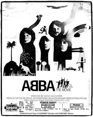 ABBA - THE MOVIE newspaper advertisement opening day