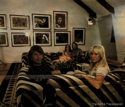 "ABBA in ""Benny & Frida's apartment"""