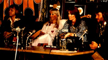 ABBA at the Sydney press conference